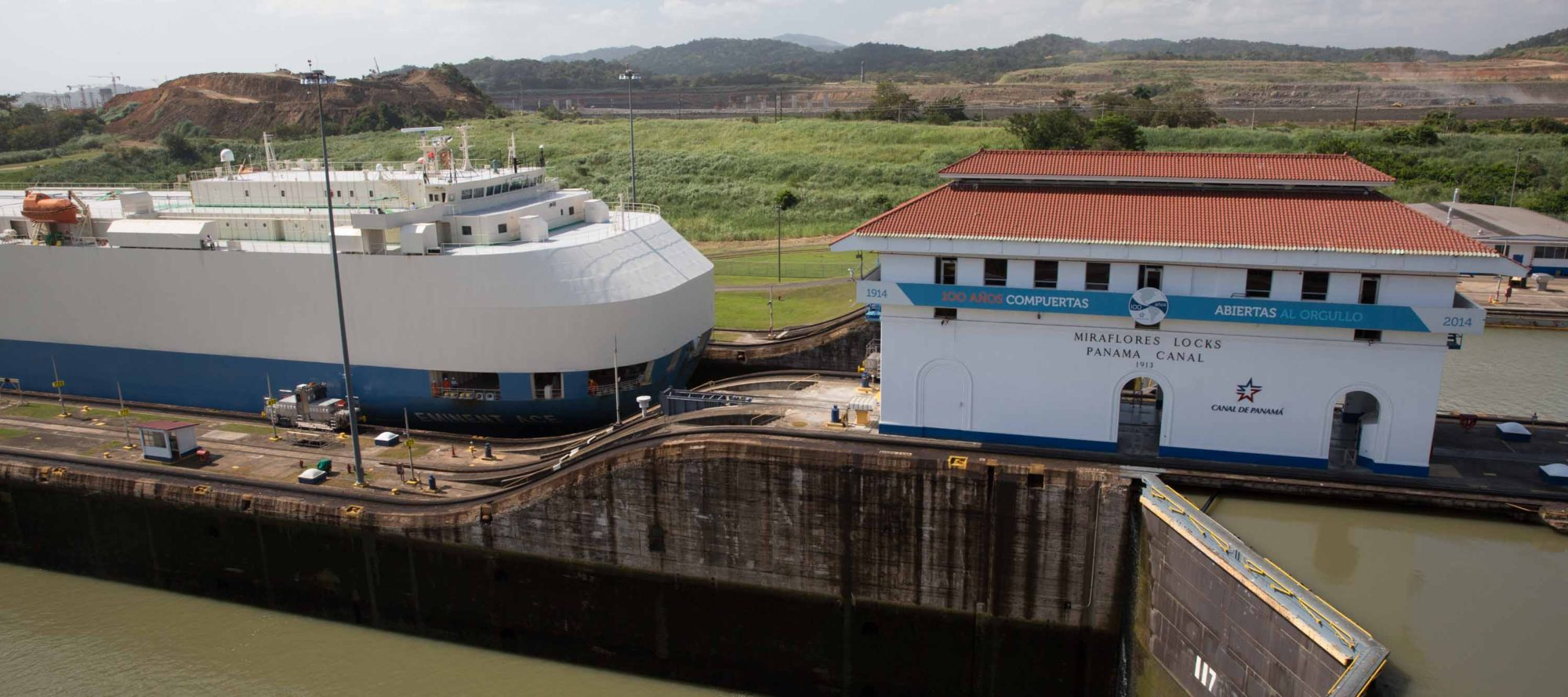 Miraflores Locks of the Panama Canal